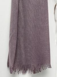 Purple - Plain - Pashmina - Viscose - Shawl