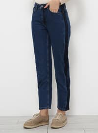 Blue - Navy Blue - Denim - Pants