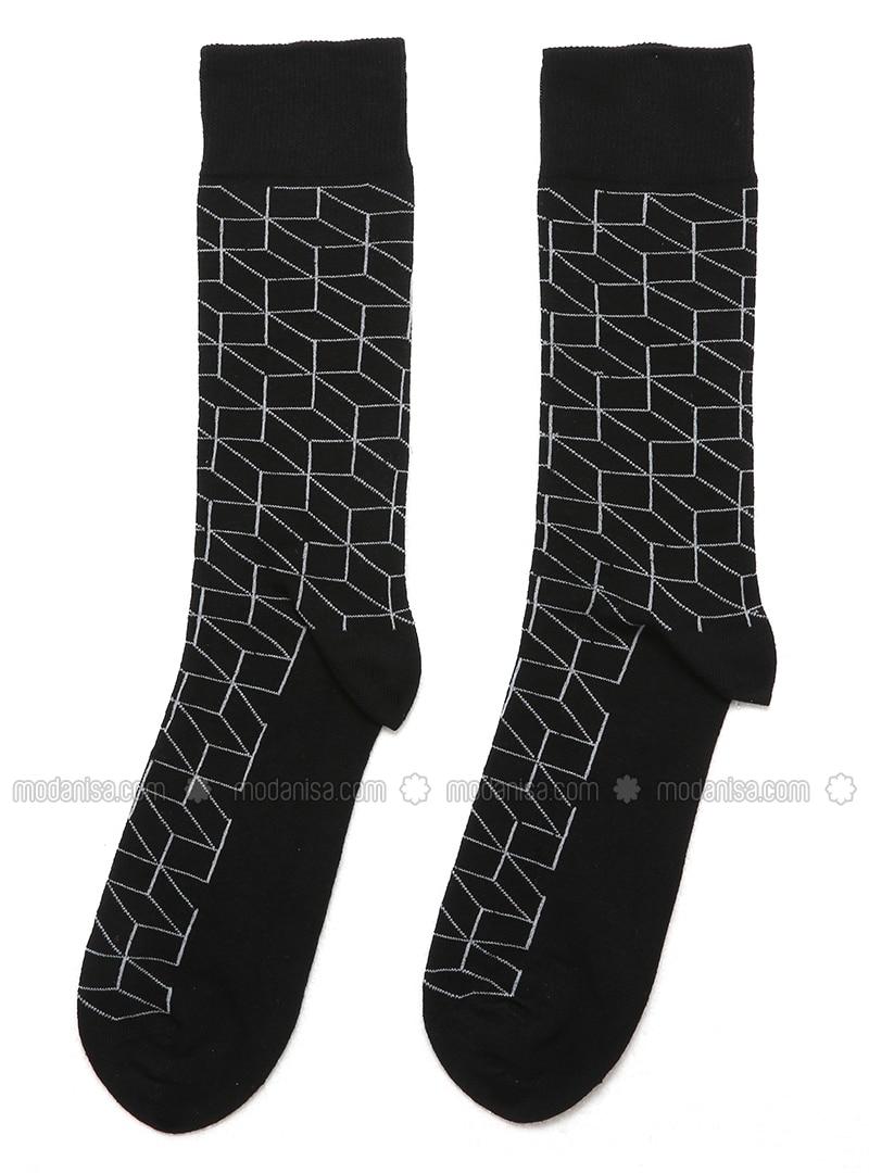 Black - Multi - Socks