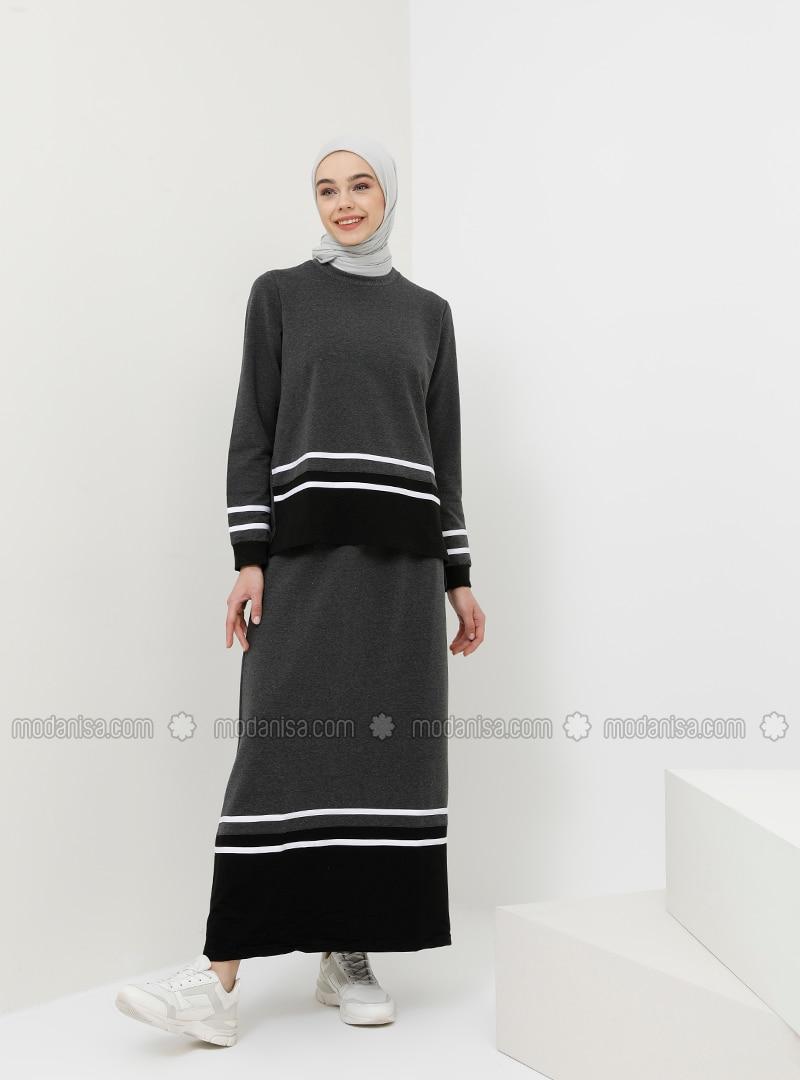 Anthracite - Stripe - Unlined - Cotton - Suit