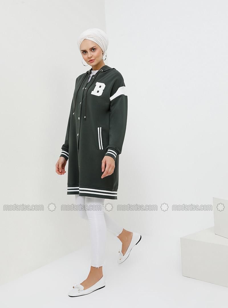 Khaki - Unlined - Cotton - Topcoat
