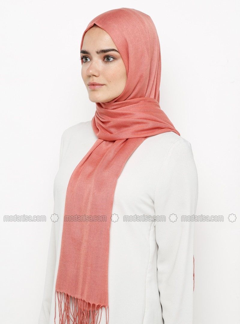 - Plain - Pashmina - Viscose - Shawl