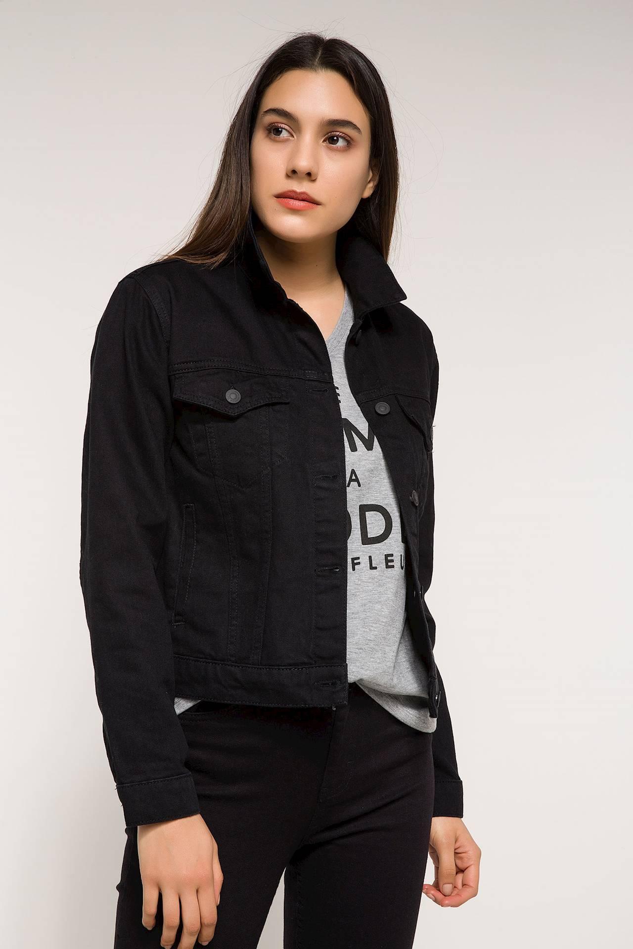Tesettür Ceket DeFacto Siyah Kadın 44