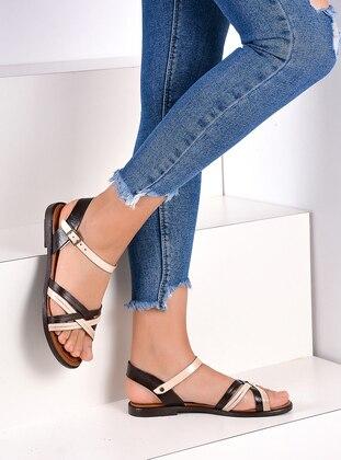 Brown - Beige - Sandal - Sandal