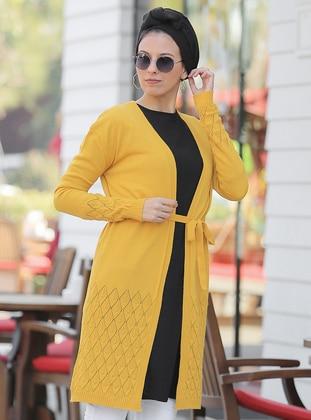 Mustard -  - Cardigan - Por La Cara