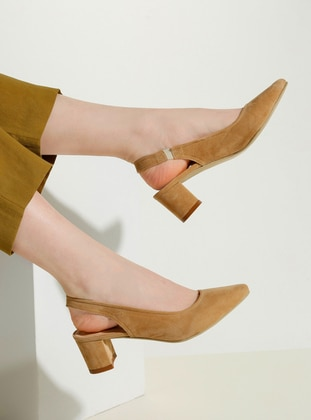 Beige - High Heel - Shoes - Bambi