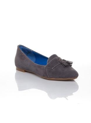 Smoke - Flat - Flat Shoes