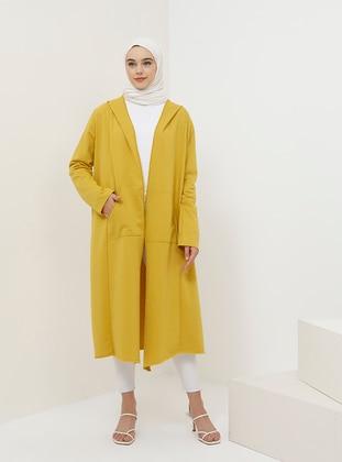 Yellow - Mustard - Unlined - Cotton - Topcoat