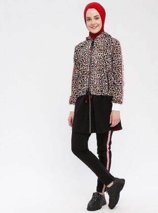 Black - Brown - Leopard - Tracksuit Set
