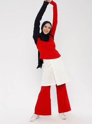 White - Unlined - Cotton - Skirt