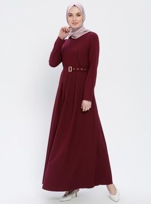 Cherry - Crew neck - Unlined - Dress - ZENANE
