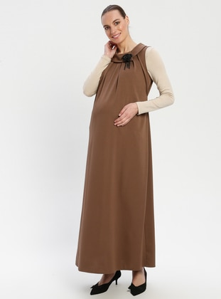 Minc - Crew neck - Unlined - Maternity Dress