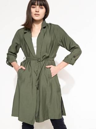 Khaki - Trench Coat