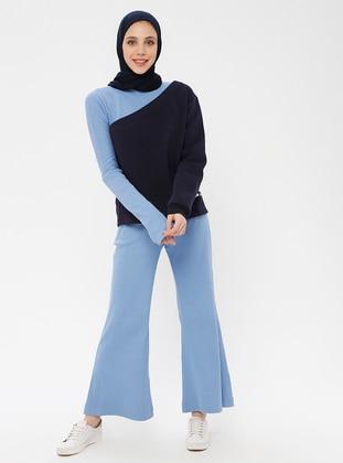 Baby Blue - Cotton - Pants