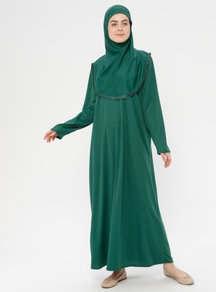 Green - Unlined - Prayer Clothes - Hal-i Niyaz