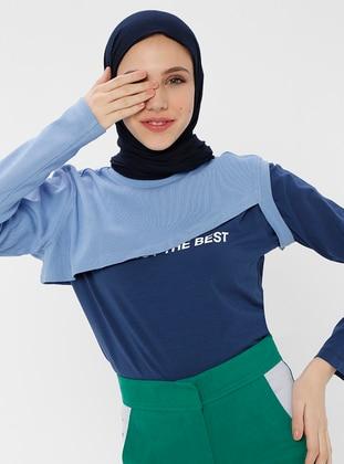Geometric - Multi - Blue - T-Shirt