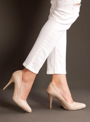 Beige - High Heel - Heels - Ayakkabı Havuzu