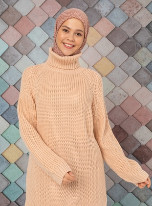 Powder - Polo neck - Acrylic - Tunic