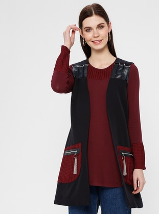 Black - Maroon - Fully Lined - Suit