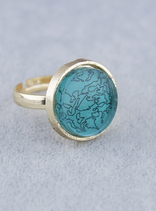Blue - Gold - Ring