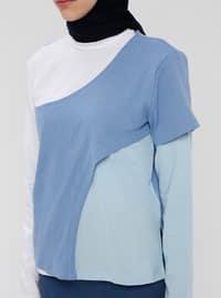 Geometric - Blue - T-Shirt