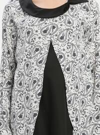 Black - White - Ecru - Crew neck - Multi - Viscose - Maternity Tunic