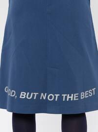 Blue - Unlined - Cotton - Skirt
