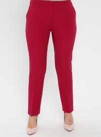 Fuchsia - Plus Size Pants