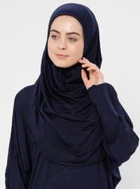 Lacivert - Astarsız kumaş - Namaz kıyafeti