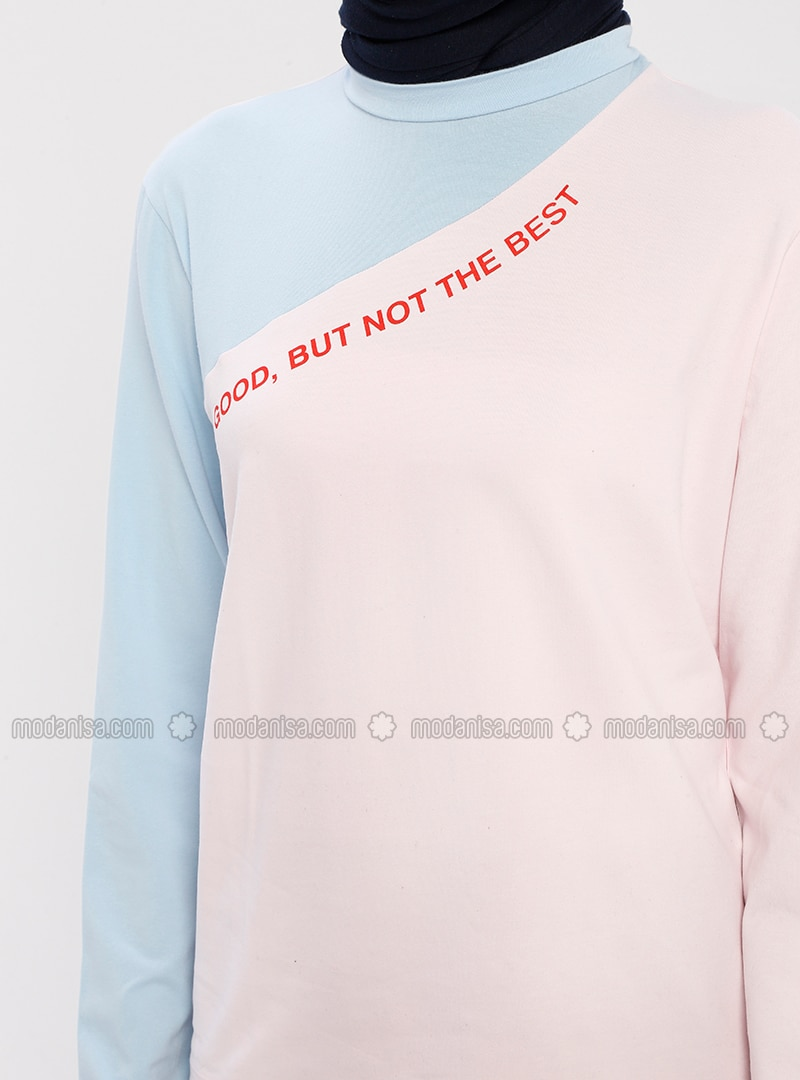 Pink - Geometric - Cotton - Blouses