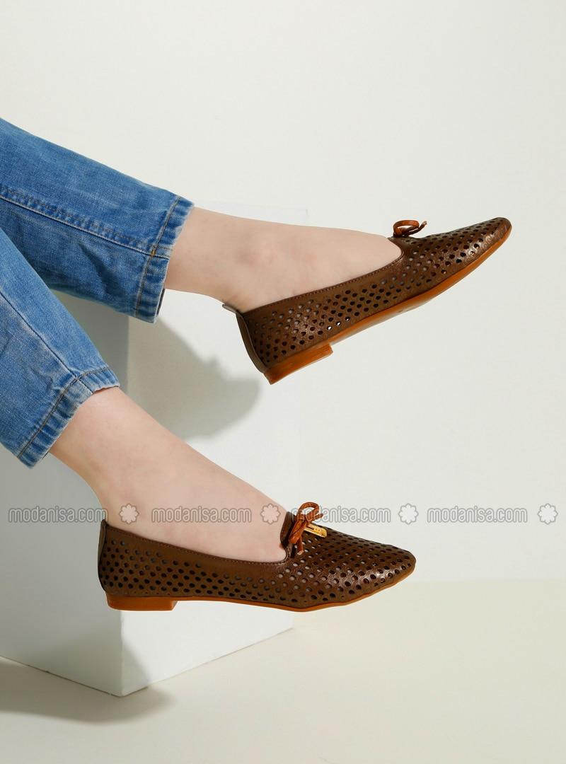 Brown - Flat - Flat Shoes