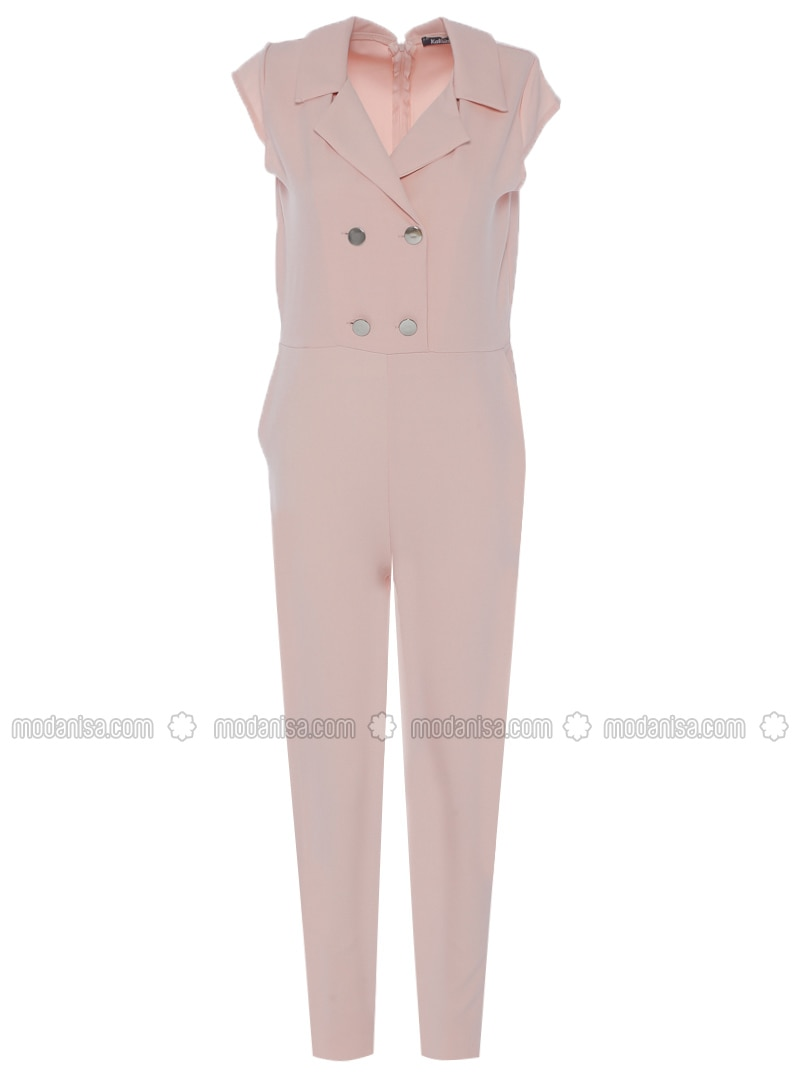 Powder - Unlined - Point Collar - Jumpsuit