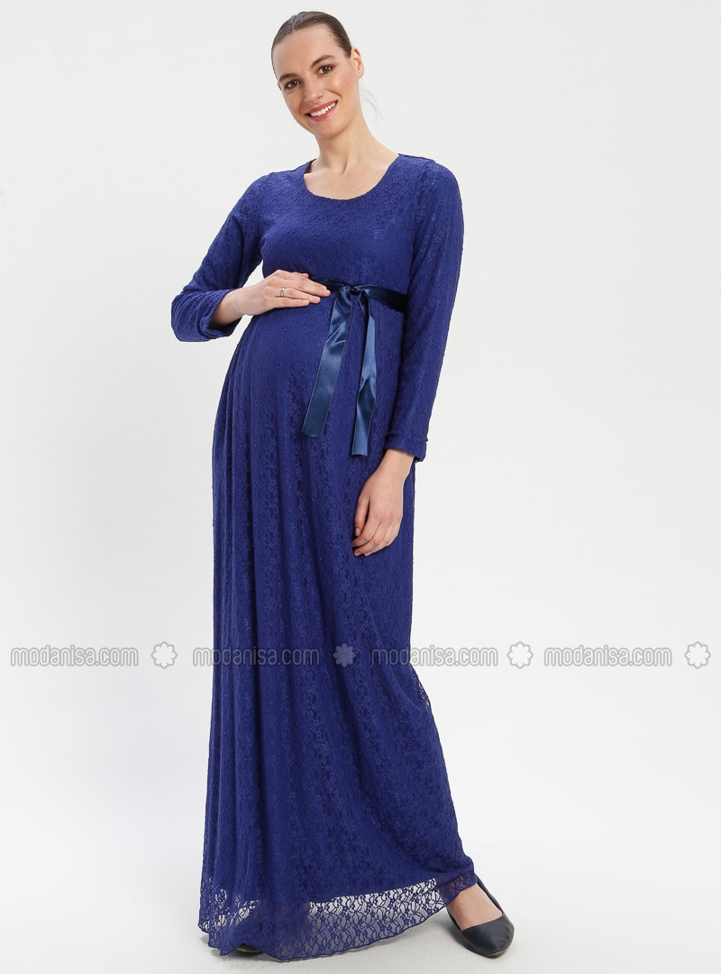 d545bb1a98812 Saxe - Crew neck - Fully Lined - Maternity Dress