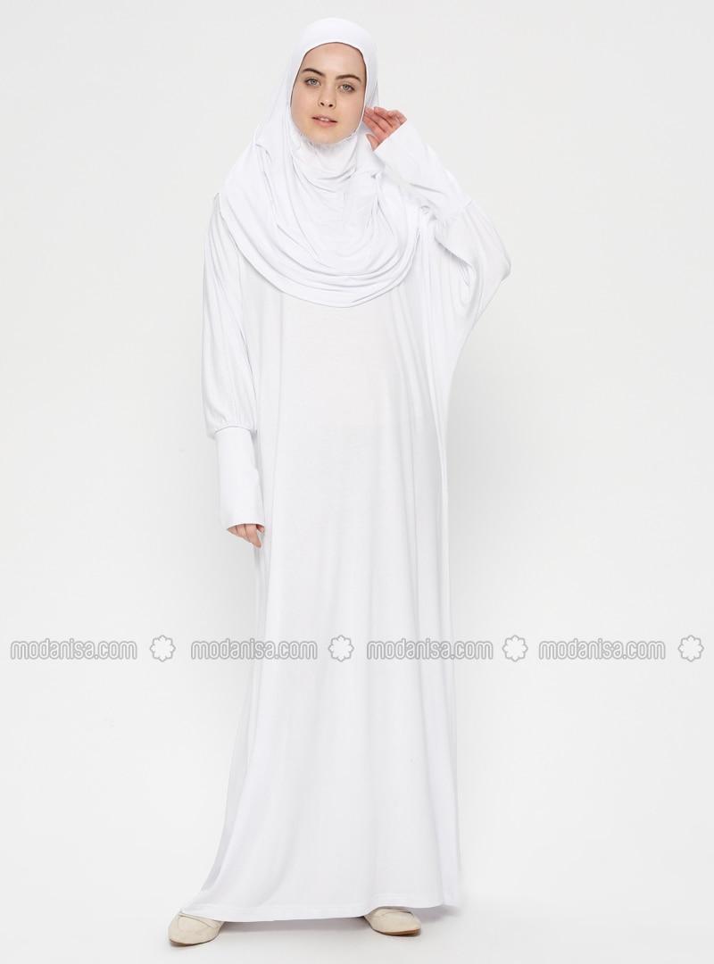 White - Ecru - Unlined - Prayer Clothes - Hal-i Niyaz
