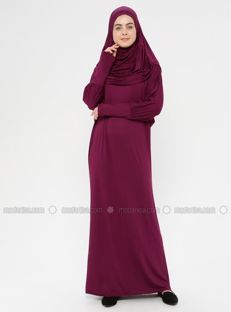 Plum - Unlined - Prayer Clothes - Hal-i Niyaz