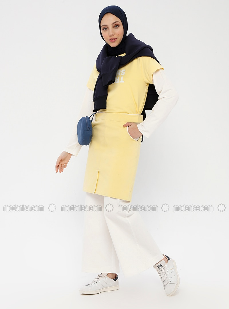 Yellow - Unlined - Cotton - Skirt