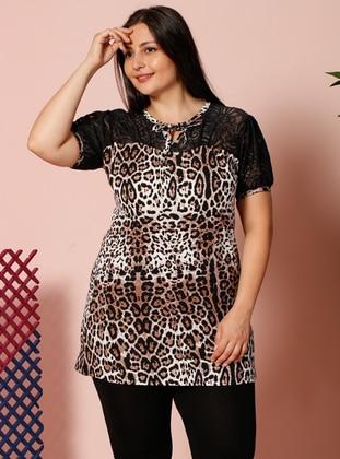 Leopard - Crew neck - Leopard - Pyjama