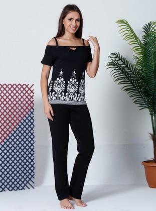 Black - Multi - Pyjama