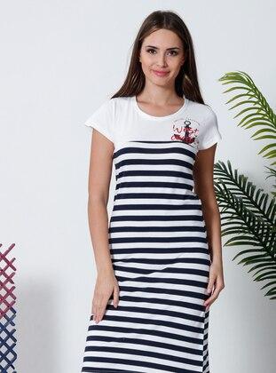 Black - White - Multi - Stripe - Dress