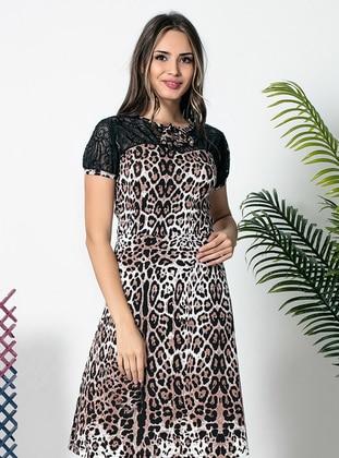 Multi - Leopard - Leopard - Dress
