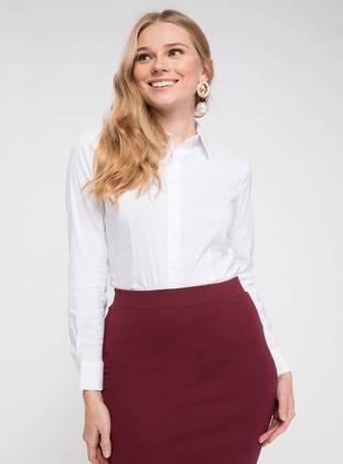 36 female Beyaz Bluz Gömlek DeFacto