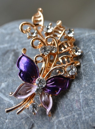 Purple - Brooch