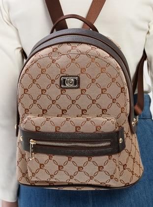 Brown - Backpacks - Pierre Cardin Çanta