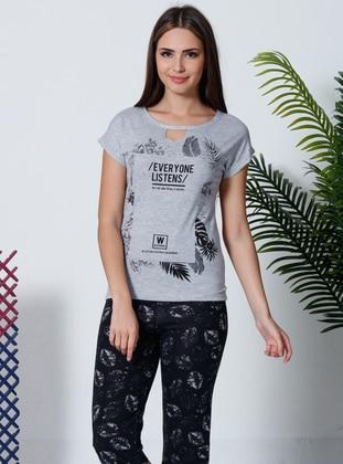 Multi - Crew neck - Multi - Cotton - Pyjama