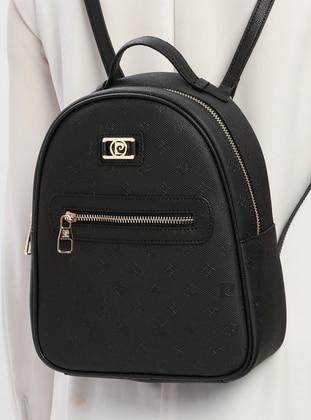 Black - Backpacks - Pierre Cardin Çanta