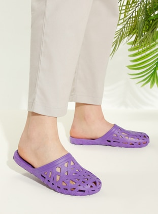 Purple - Sandal - Slippers - TWIGY