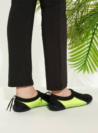 Black - Yellow - Sandal - Slippers - TWIGY