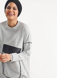 Gray - Cotton - Tunic