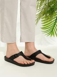 Black - Sandal - Slippers - TWIGY