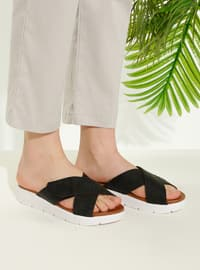 Black - Sandal - Slippers - TWIGY